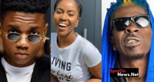 SHATTA WALE, MZVEE AND KIDI SPOTTED ON TIMES SQUARE BILLBOARD IN NEW YORK.