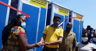 MELCOM DONATES MODERN WASHROOM FACILITIES TO SCHOOLS IN GHANA