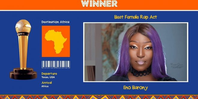 Eno Barony wins best female Rap act at Afrimma 2020