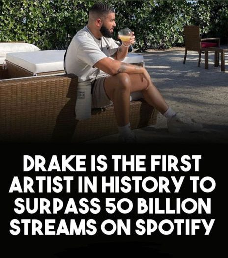 Drake becomes the 1st artist to hit 50 billion streams on Spotify