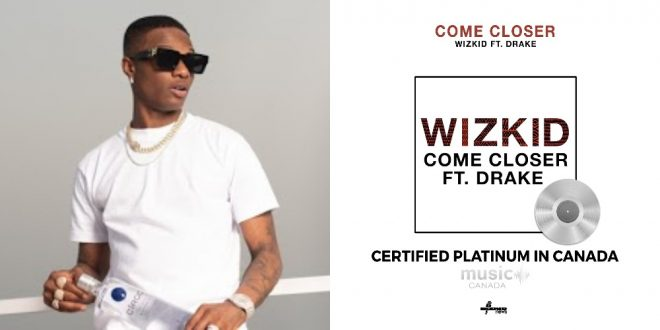 Wizkid makes history in Canada